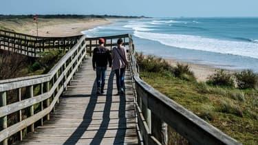 Le littoral de la commune de Bois-Plage, dans le sud-ouest de la France (Photo d'illustration).