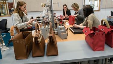 """La manufacture d'Héricourt (Haute-Saône) est pour l'instant uniquement consacrée à la production du sac-à-main iconique """"Kelly""""."""