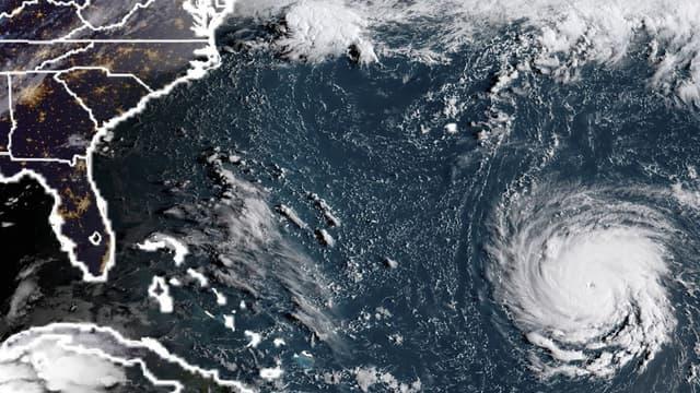 L'image satellite montrant l'ouragan Florence près de la côte est des Etats-Unis, dans l'océan Atlantique.