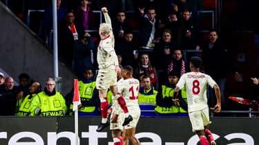 La joie des joueurs de Monaco