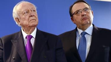Jean-Claude Gaudin et Patrick Mennucci seront les deux rivaux de cette municipale à Marseille.