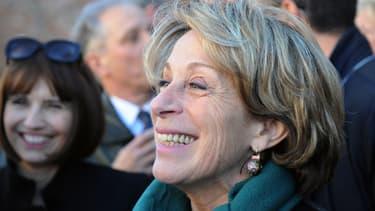 Brigitte Barèges le 6 février 2014, à la rencontre des habitants de Montauban.