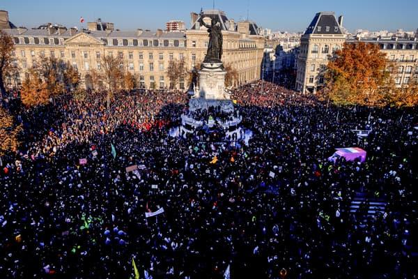 Les manifestants place de la République