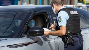 Un contrôle policier à Rémire-Montjolie en Guyane le 20 juin 2020