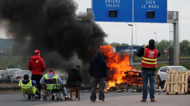 Les routiers continuent leur mouvement de grève (photo d'illustration).