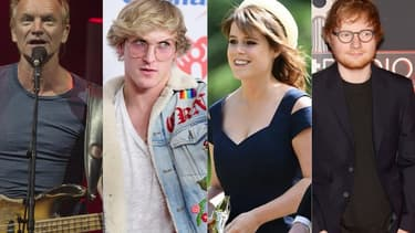 Sting, Logan Paul, la princesse Eugenie et Ed Sheeran