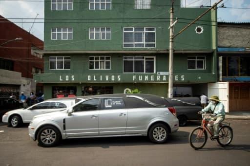 Le bâtiment de Los Olivos Funerales, le 1er juin 2020 à Mexico