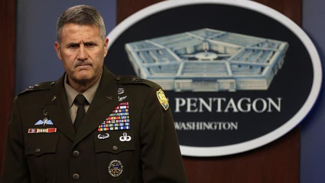 Le major général Hank Taylor s'exprime depuis le Pentagone, le 17 août 2021