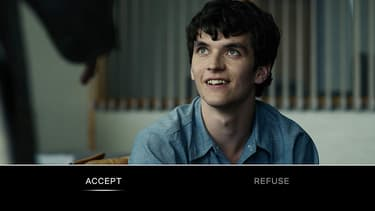 "Capture d'écran de ""Bandersnatch"", l'épisode interactif de ""Black Mirror""."
