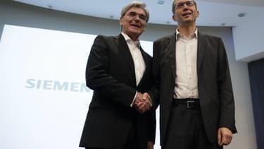 Joe Kaeser et Henri Pourpart-Lafarge