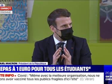 """Emmanuel Macron: """"Un étudiant ou une étudiante a le droit d'avoir 20% de son temps en présentiel"""""""
