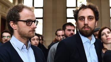 En plus des 441.000 euros d'indemnisation aux taxis et d'une amende de 200.000 euros, dont 150.000 euros avec sursis, Teddy Pellerin (à droite) et Mathieu Jacob devront chacun payer 10.000 euros d'amende dont la moitié avec sursis.