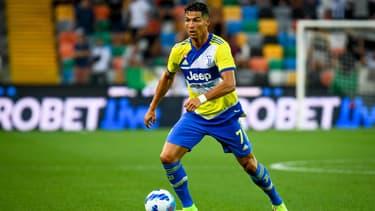 Cristiano Ronaldo avec la Juventus, à Udine le 24 août 2021