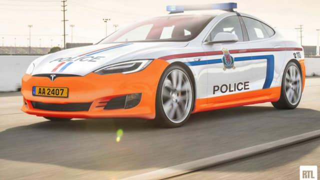 Deux Tesla Model S équiperont dès septembre la police de la route au Luxembourg.