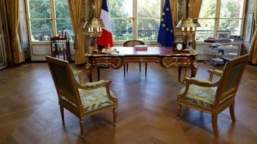 Le bureau d'Emmanuel Macron à l'Elysée.