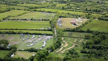 Image aérienne du site de Notre-Dame-des-Landes le 11 mai 2013.