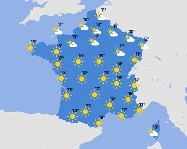 La météo de ce vendredi 23 avril 2021