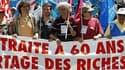 Lors de la précédente journée de mobilisation contre la réforme des retraites, le 24 juin dernier, à Nantes. Des autorités françaises fragilisées affronteront mardi des syndicats et une opposition revigorés lors d'une journée de grèves et manifestations c