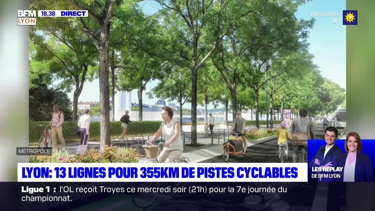 Lyon : 13 lignes pour 355km de pistes cyclables