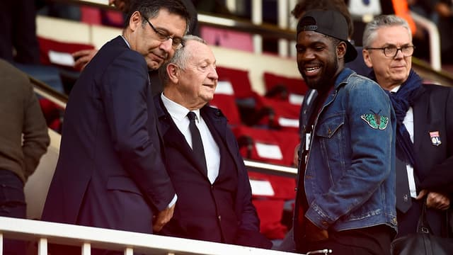 Le président du Barça Bartomeu et Umtiti