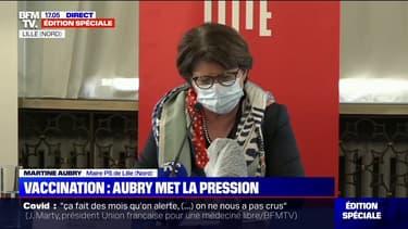 """Martine Aubry: """"S'il n'y a pas un mouvement de vaccination lourd, on ne sortira pas de cette pandémie"""""""