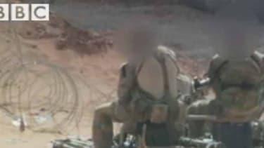 Les photos obtenues par la BBC montrant des soldats britanniques sur le sol syrien.
