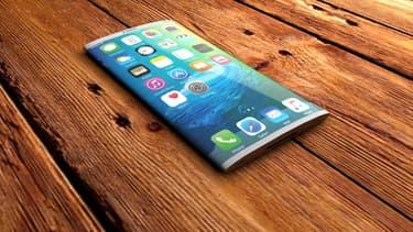 Les designers s'amusent à imaginer des concepts d'iPhone à écran OLED flexible. Apple dévoilera le véritable modèle en 2017 à l'occasion des 10 ans de son smartphone.