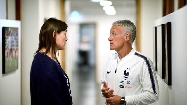 Corinne Diacre et Didier Deschamps