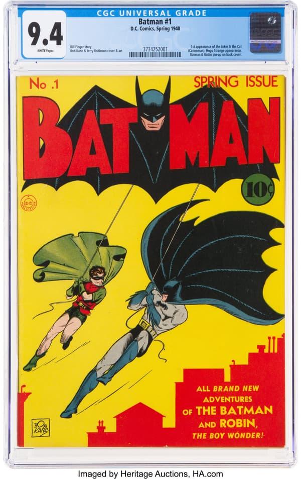 La BD de Batman la plus chère au monde