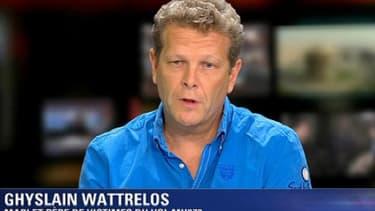 Ghyslain Wattrelos, père et mari de disparus du vol MH370 de la Malaysia Airlines.