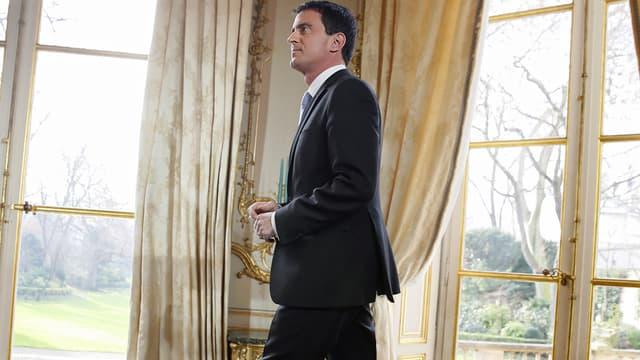 Manuel Valls lors de ses voeux à la presse, mardi 21 janvier à Matignon.
