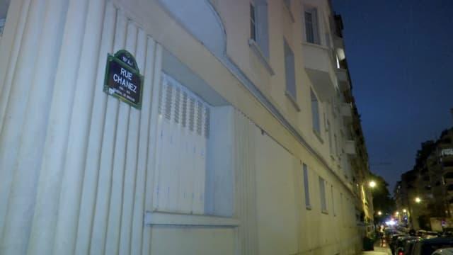 La rue Chanez, à Paris, où avaient été découvertes les bondonnes de gaz.