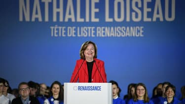 Nathalie Loiseau lors d'un meeting de LaREM pour les européennes à Caen, le 6 mai 2019