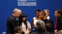 """Lors d'une cérémonie à l'Hôtel de Matignon pour saluer les 30 premières conventions d'engagements, le Premier ministre Jean-Marc Ayrault a lancé les emplois d'avenir, un programme qui, selon lui, s'inscrit dans le projet du """"nouveau modèle français"""" promi"""
