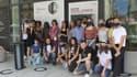 Les 25 lauréats du concours Moteur! 2021 qui vont participer au Campus de la confiance, lors de leur séjour au festival de Cannes.