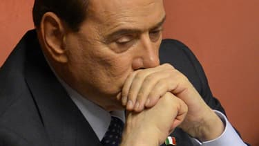 Silvio Berlusconi au Sénat à Rome en Italie le 30 avril 2013.