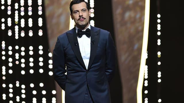 Laurent Lafitte, pendant la cérémonie d'ouverture du 69e festival de Cannes, le 11 mai.