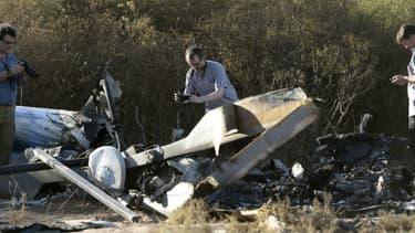 Le site du crash.