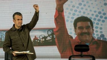 Le vice-président vénézuélien Tareck El Aissami à Caracas, le 31 janvier 2017