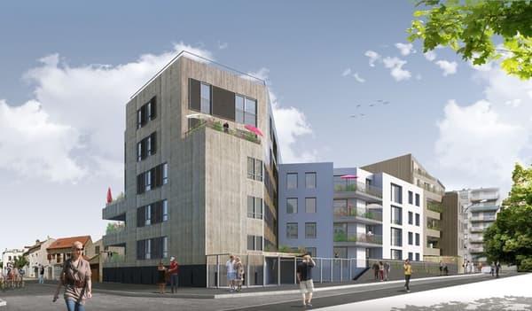 """La résidence """"Le Belvédère"""" est située à Montreuil, à l'angle de la rue ... et de la rue ..."""