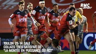 """Toulon 26-14 Sale : Collazo satisfait de """"la montée en puissance du RCT"""""""