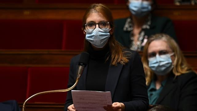 La députée LaREM Aurore Bergé, à l'Assemblée nationale le 20 octobre 2020