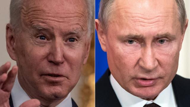 Joe Biden et Vladimir Poutine.