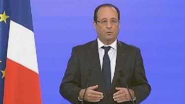 François Hollande s'est exprimé depuis le siège du Conseil économique, social et environnemental (Cese), en ouverture de la conférence environnementale.