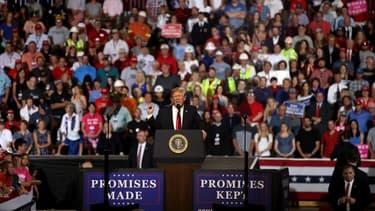 Donald Trump en meeting dans le Montana, le 5 juillet 2018.
