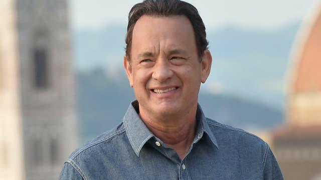 L'acteur américain Tom Hanks à Florence en mai 2015 pour le film Inferno.