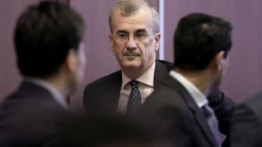 """Le gouverneur de la Banque de France estime que """"pour l'assurance-vie, les taux servis sur les contrats en cours sont aujourd'hui encore élevés: 1,8% en moyenne""""."""