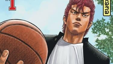"""La couverture du premier volume de """"Slam Dunk"""""""