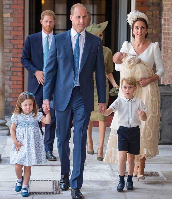 William, Kaet et leurs enfants, George, Charlotte et Louis.