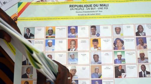 """L'ex-Premier ministre Ibrahim Boubacar Keïta, donné favori au premier tour de l'élection présidentielle au Mali, """"a une large avance sur les autres candidats"""""""